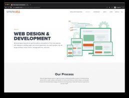 Spark451 Website Negative Space Example